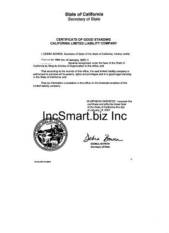 California LLC - Form, Filing, Fees. IncSmart California